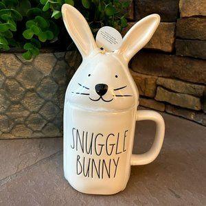 Rae Dunn Snuggle Bunny Mug & Bunny Topper